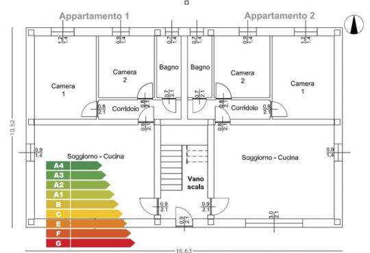 Risparmio e classificazione energetica, analisi su edificio condominiale