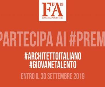 Chi saranno Architetto Dell'Anno e Giovane Talento Architettura 2019?