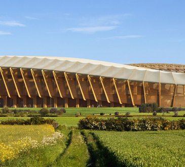 Zaha Hadid Architects: uno stadio di calcio in legno innovativo