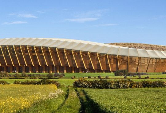 Zaha Hadid Architects: uno stadio di calcio in legno innovativo